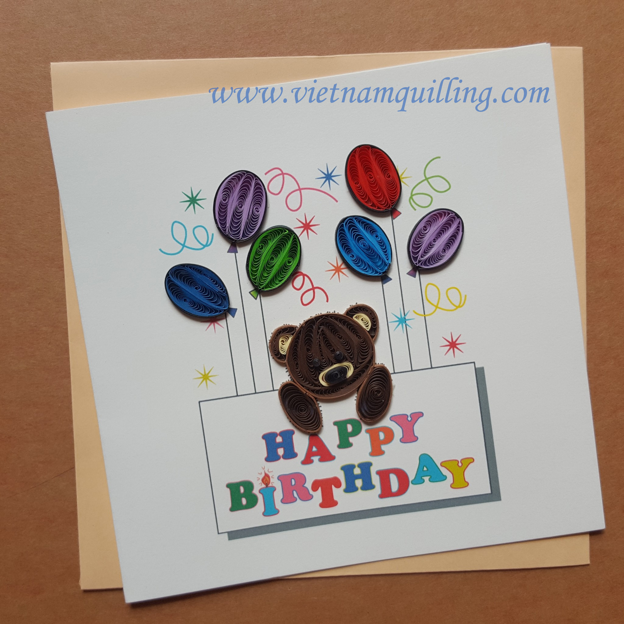 Quilling Birthday Cards Vietnam Wholesale Quilling Cards