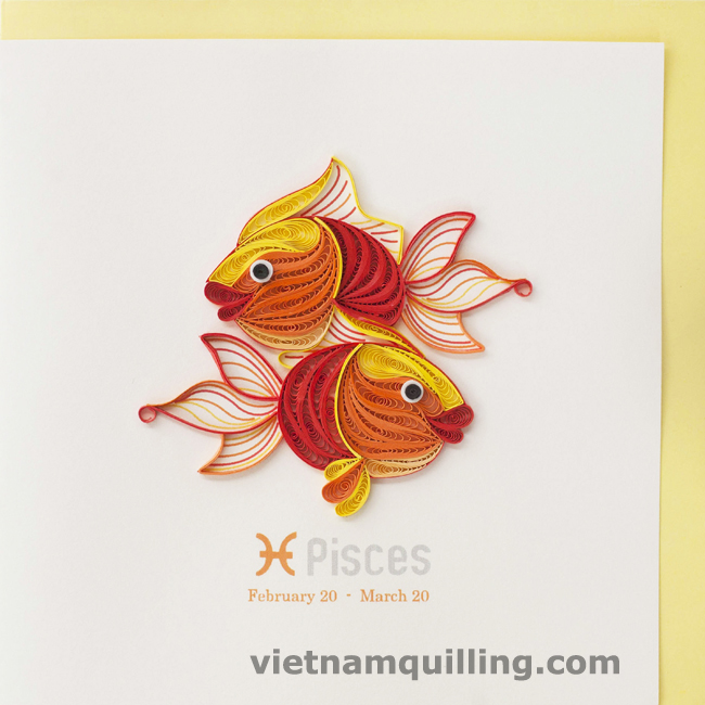 Quilling Zodiac Card Vietnam Quilling Greeting Cards Manufacturer